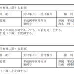登記簿上の住所が異なる複数の物件の住所変更登記